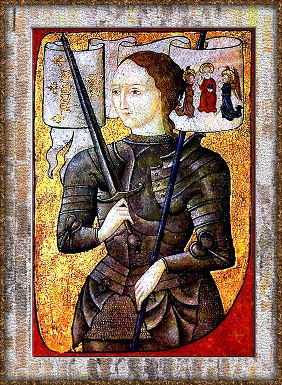 XV Century Portrait of Jeanne DArc,-Infamous French Heroine