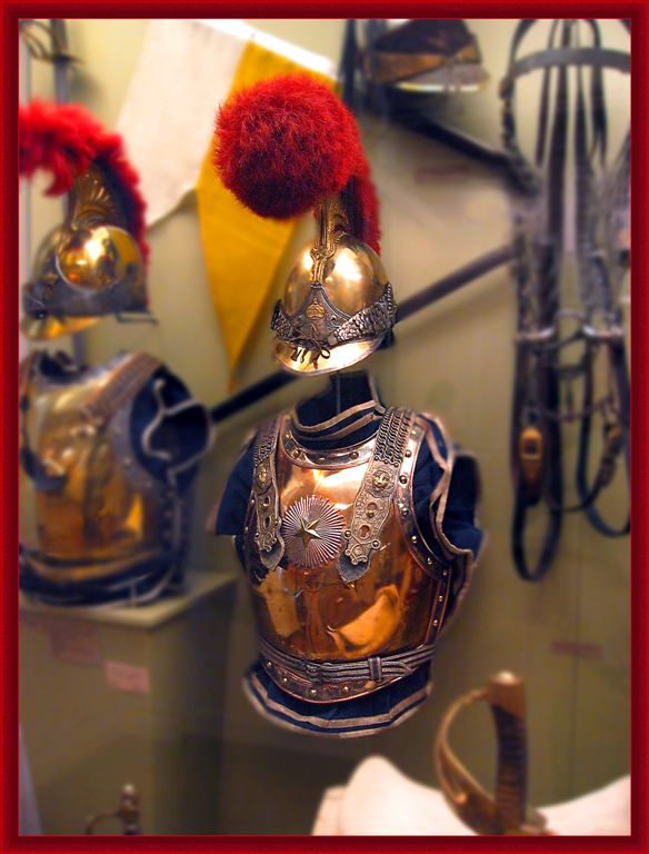 Cuirassier Armor Of Napoleons Army In Invalides, Paris