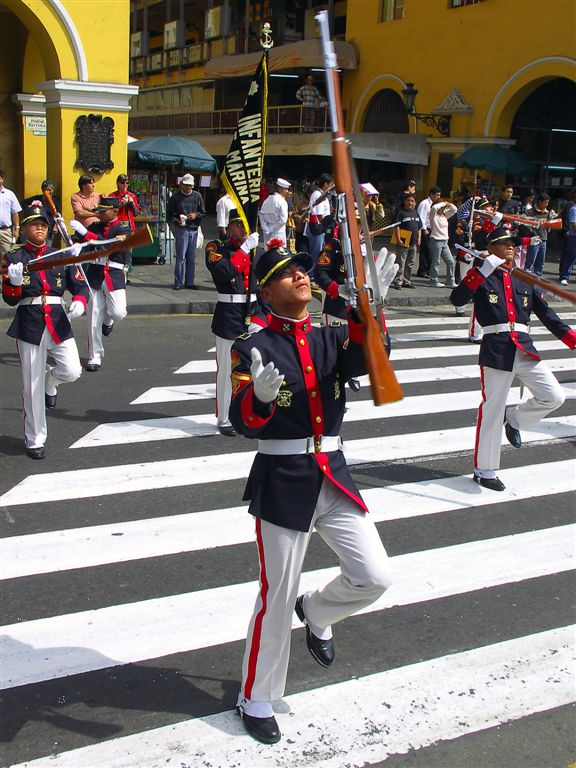 Dont Try This Trick At Home ! Parade Of Presidential Guard, Lima