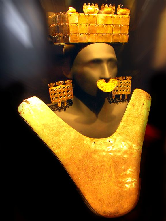 Gold Outfit Of Military Leader, Larco Museum, Lima