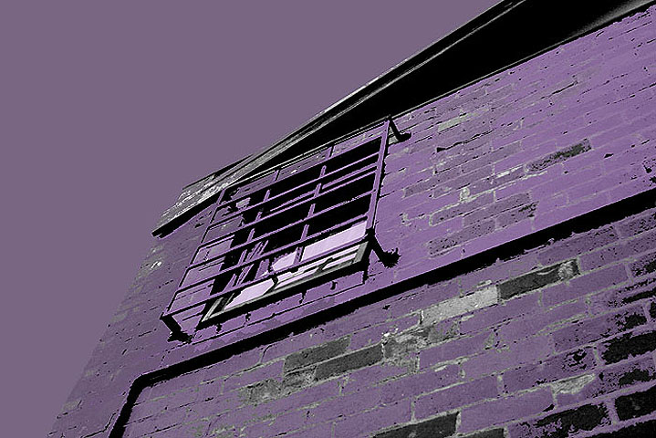 Purple brick wall