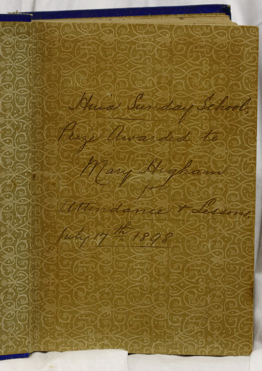 Front page inscription for 8160