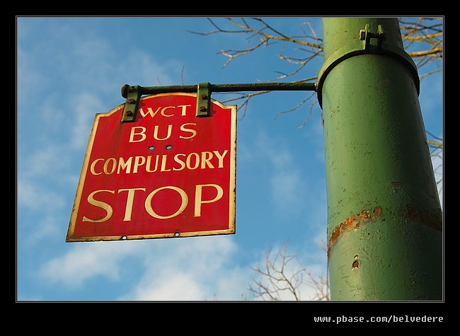 Bus Stop Sign, Black Country Museum
