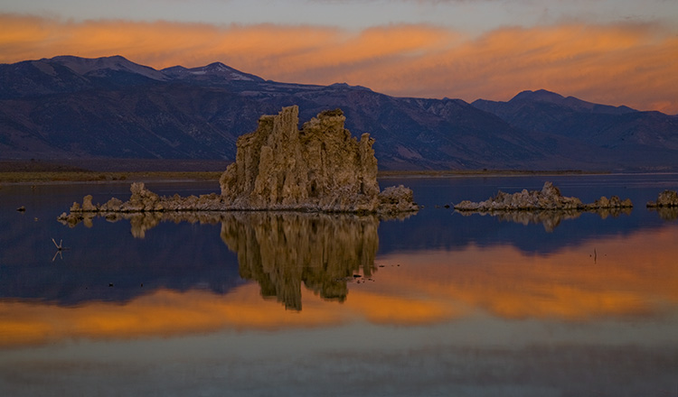 Peachy Dawn at Mono Lake