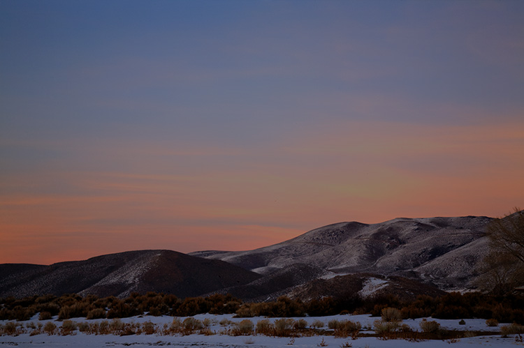 Twilight on Washoe Hills
