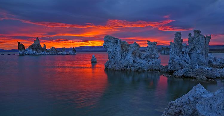 Mono Dawn Fire in the Sky