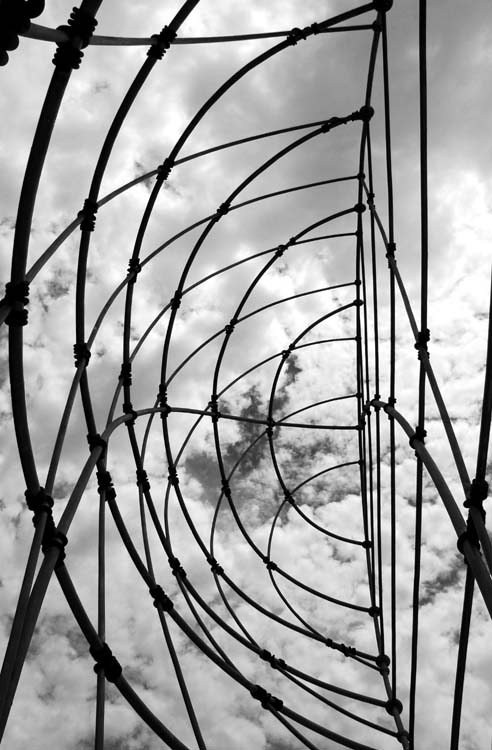 Upshot in a Metal Sculpture at the Entrance