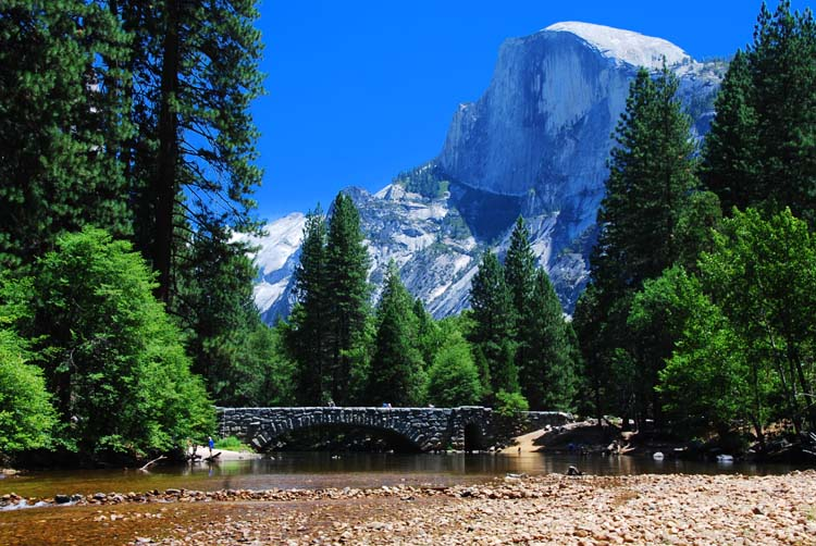 Another Perspective on Half Dome and the Million Dollar Bridge