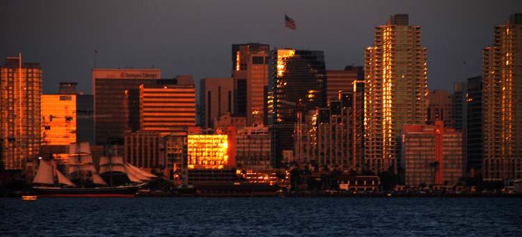 Sunset on San Diego Skyline