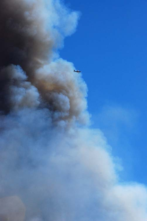 Scout Planes Monitor the Fire and Establish Drop Zones