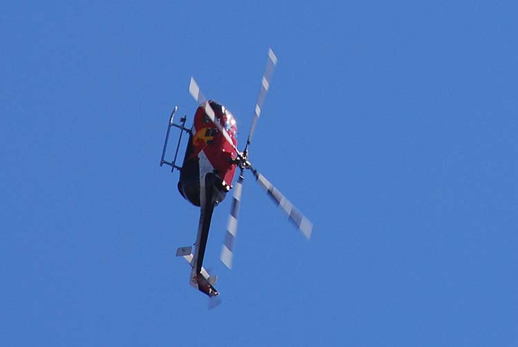 Red Bull Helicopter Flies Upside Down Series #1