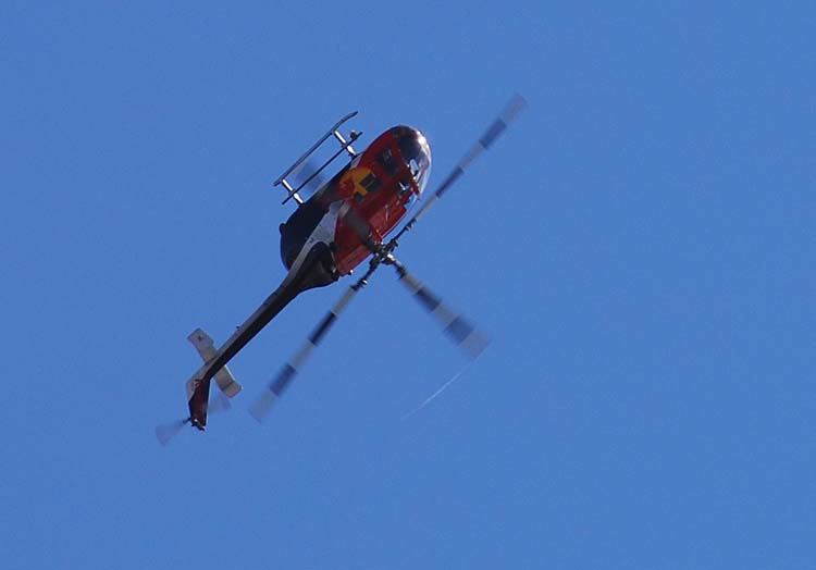 Red Bull Helicopter Flies Upside Down Seried #2