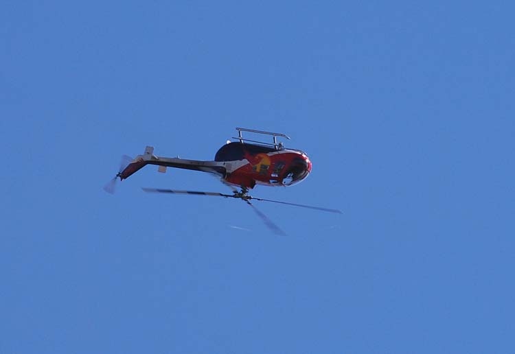 Red Bull Helicopter Flies Upside Down Series #3