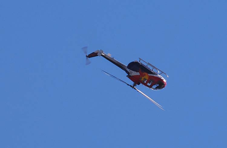 Red Bull Helicopter Flies Upside Down Series #4