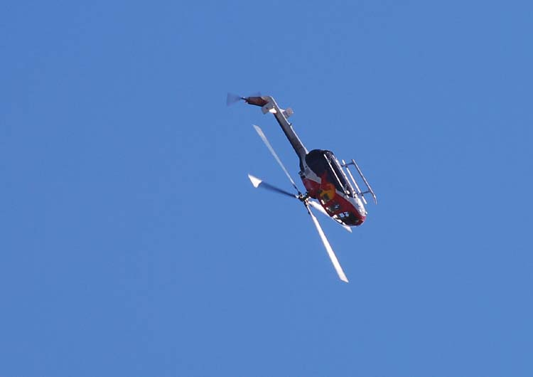 Red Bull Helicopter Flies Upside Down Series #5