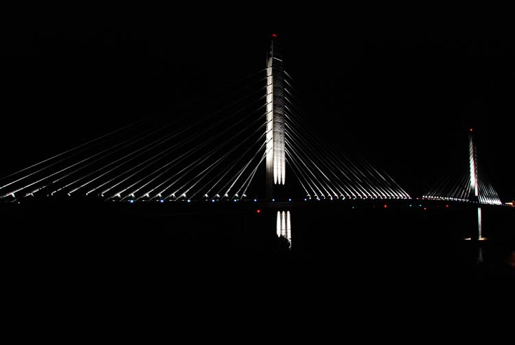Penobscot Narrows Bridge by Night