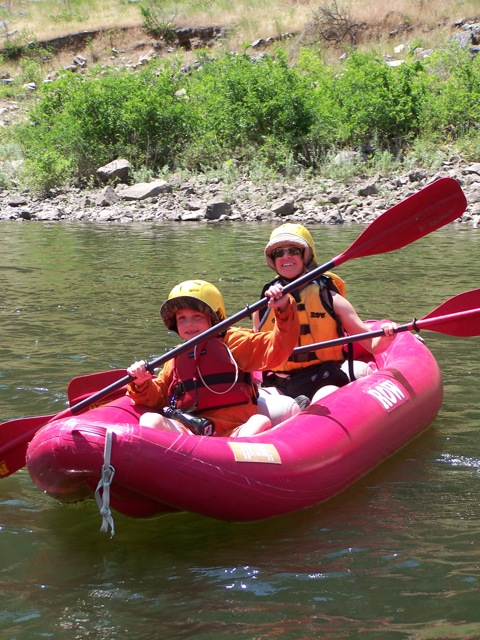 In addition to whitewater rafts, we had both one and two-person inflatable rafts