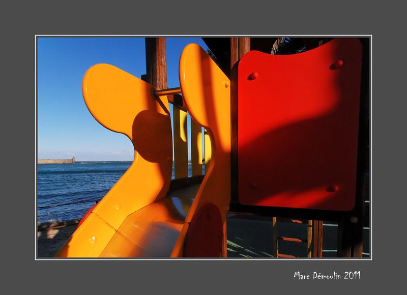 Toboggan and pier