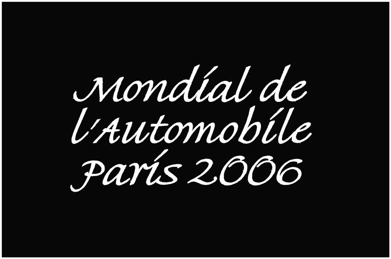 Mondial de lautomobile Paris 2006