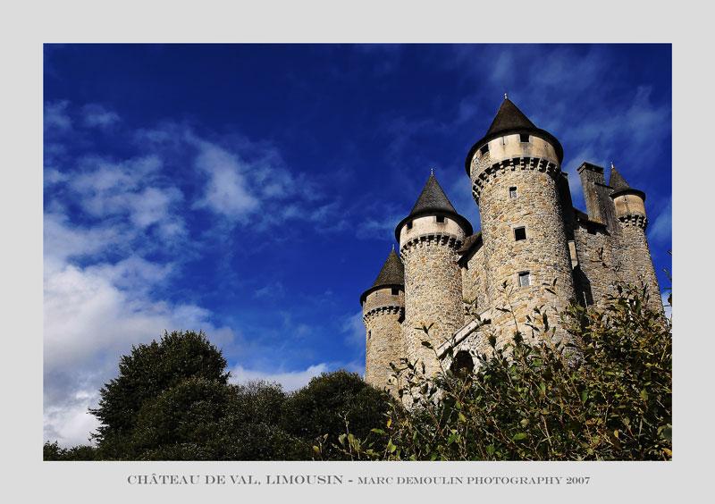 Limousin, Bord les Orgues, Chateau de Val