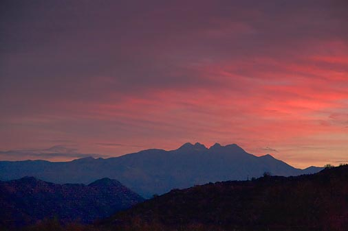 Four Peaks At Sunrise 79898
