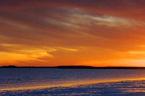 Powderhorn Lake At Sunset 37636