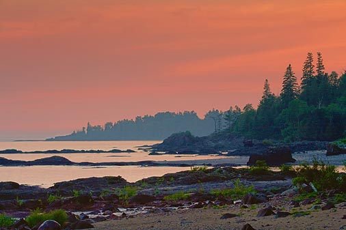 Lake Superior At Sunset 49800