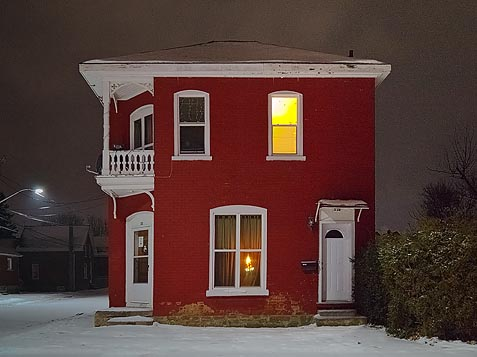 Red House At Night 20101212