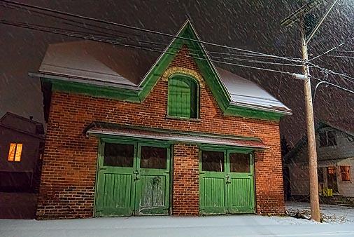 Old Garage In Snowfall 20110106