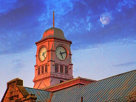 Old Clock Tower At Sunrise DSCF01320