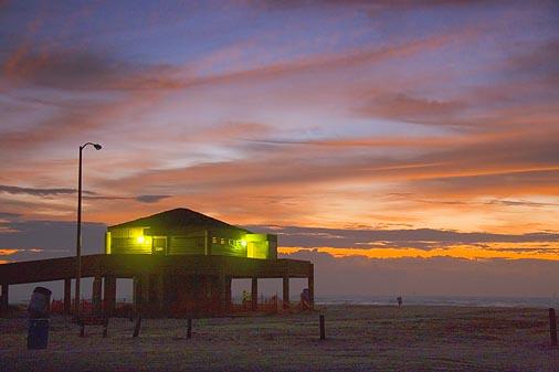 Beach Bath House At Dawn 44707