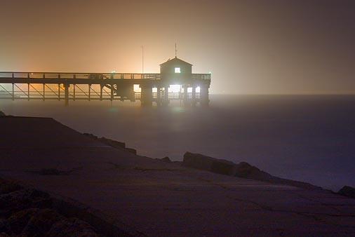 Backlit Pier In A Fog 20061229