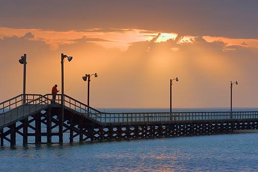 Sunrays Over Pier 20070112