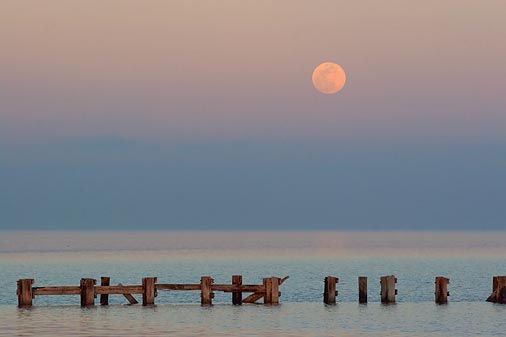 Moonrise Over Copano Bay 52019
