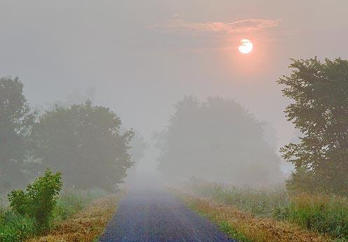 Trans-Canada Trail Foggy Sunrise 62400