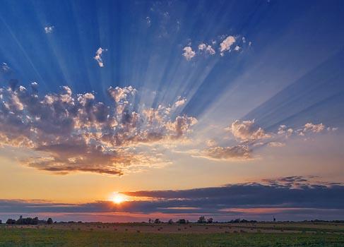 Sunset Sunrays 20070815