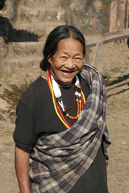 Zeliang Naga lady from Peren.