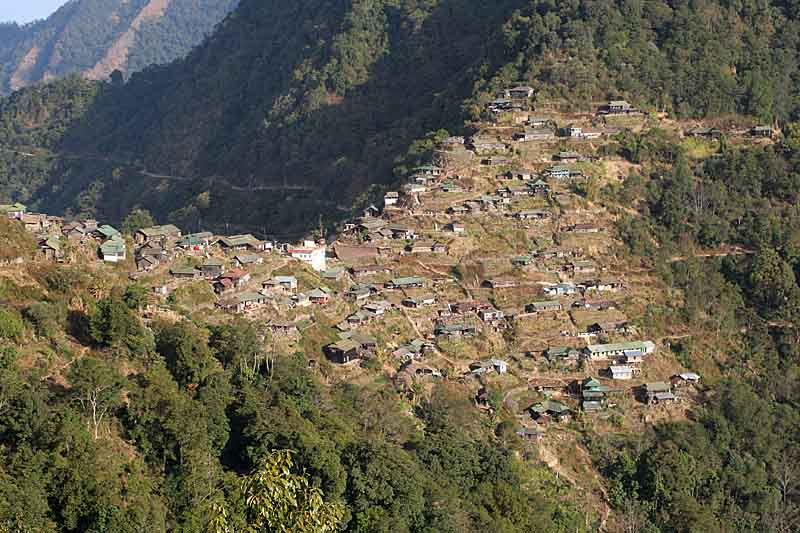 Benreu Village, home of Zeliang Naga.
