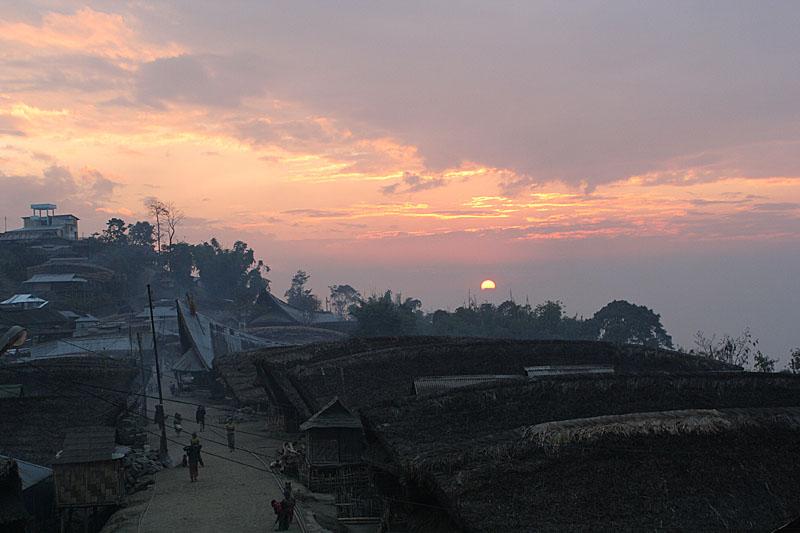 Sunset in Changlangshu.