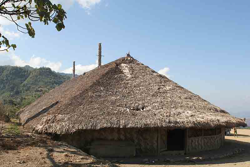 Half of the Angh´s house in Longwa is in India the other half in Myanmar.