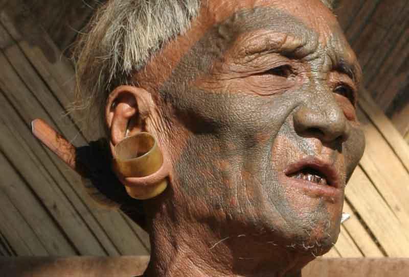 Konyak Naga, headhunter from Nagaland