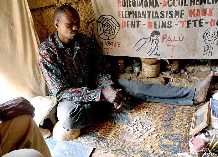 Healer and soothsayer Kone Hamadou in Nafona (Gouin tribe), Burkina Faso.