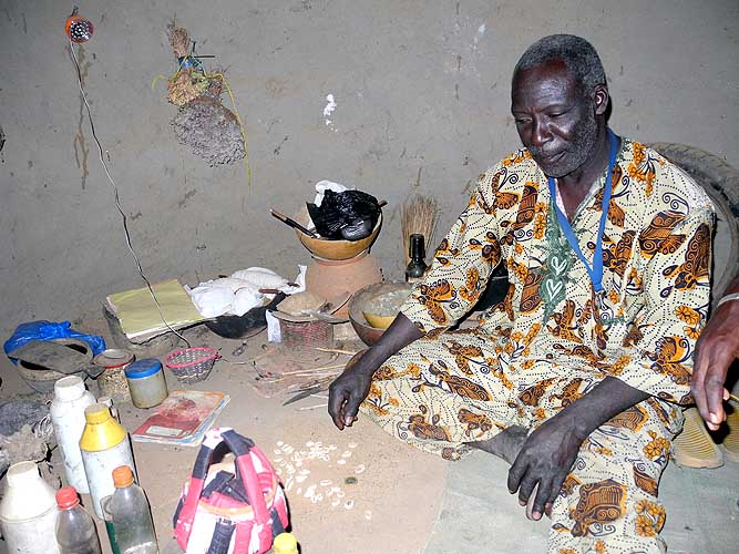 Healer and soothsayer Ouattara Soungari in Lera (Senufo tribe), Burkina Faso.