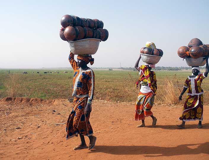 On the way to the market, Burkina Faso