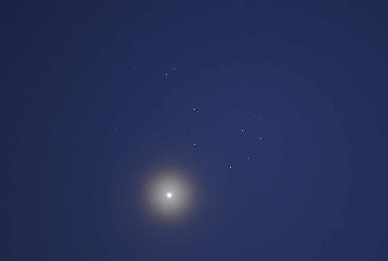 Venus and the Pleiades Star cluster