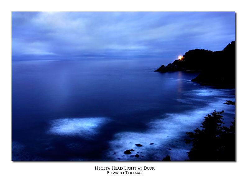 Heceta Head Light at Dusk, Oregon Coast