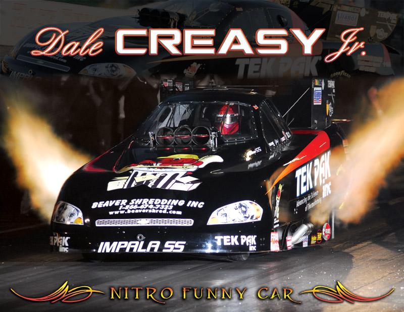 Dale Creasy Jr Nitro Funny Car Front  2010