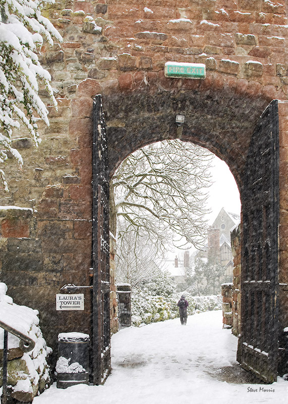 Castle gates blizzard