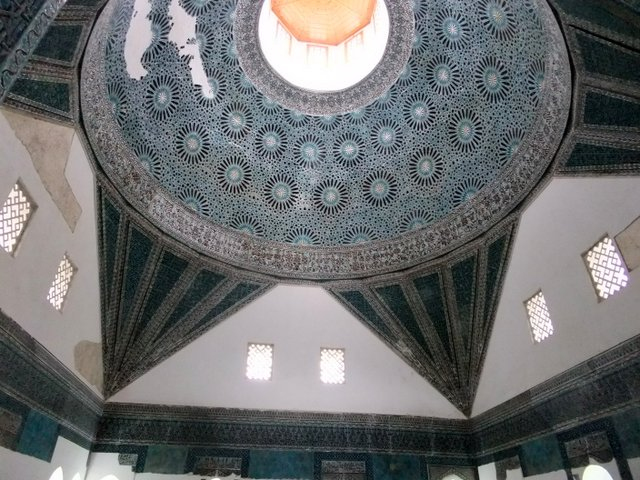 Tiled dome in Mevlana museum