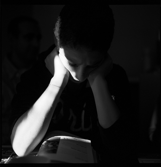 Reading By Light; Sam, Cotswalds 2010